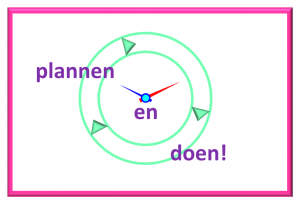 Tegel roze plannen en doen
